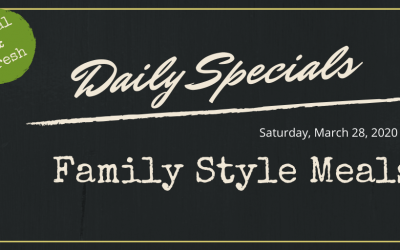 Daily Specials for 4/28/20